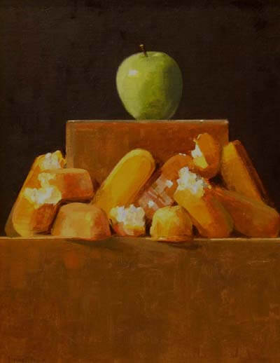 "Thomas S. Buechner ""Twilight of the Twinkies"" 18x14 oil $3,170"