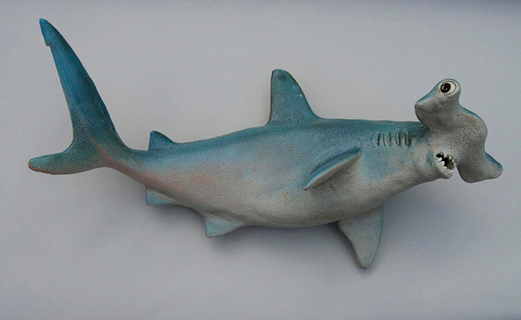 "Alan and Rosemary Bennett ""Hammerhead Shark"" fish glaze"