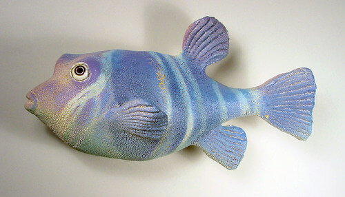 "Alan and Rosemary Bennett ""Violet Puffer"" fish glaze"