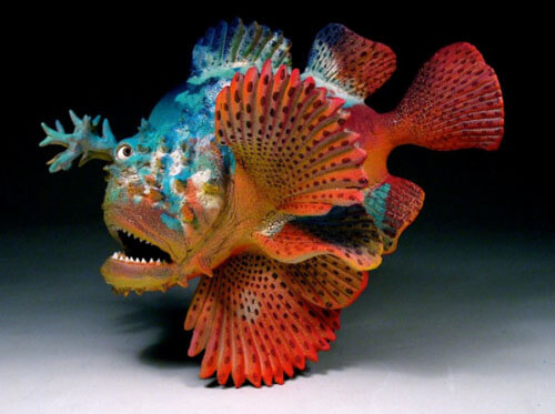 "Alan and Rosemary Bennett ""Scorpion Fish"" fish glaze"