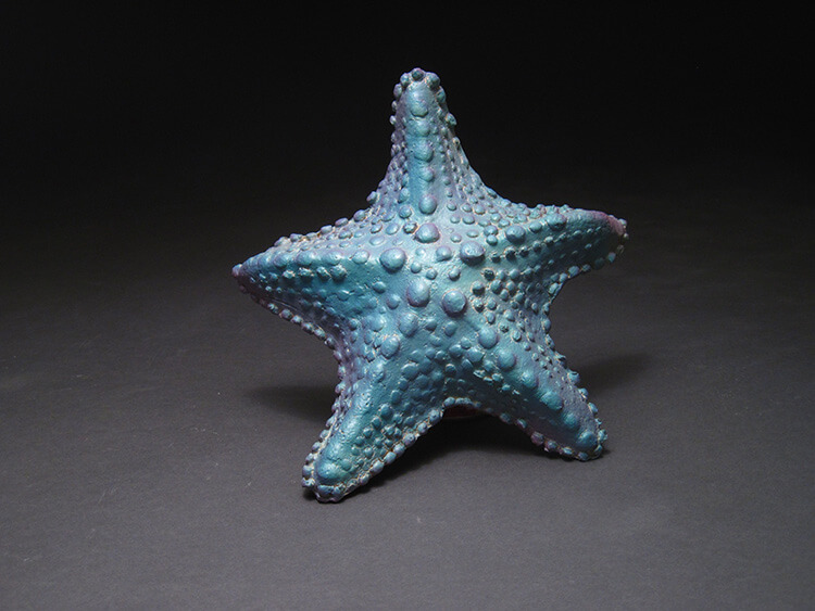 "Alan and Rosemary Bennett ""Blue Starfish"" fish glaze"