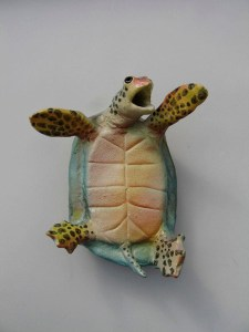 "Alan and Rosemary Bennett ""Turtle on Back"" fish glaze"