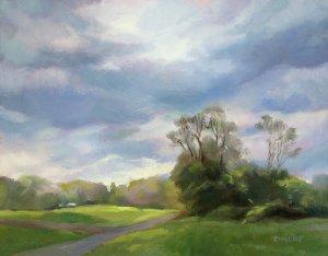 """Anne Bialke """"Breaking Sun"""" 8x10 oil $345."""