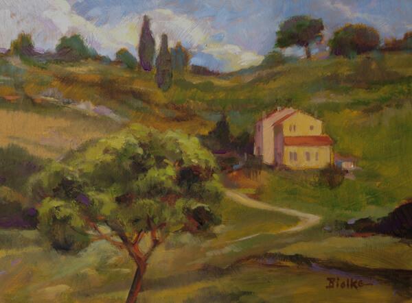 """Anne L. Bialke """"In Tuscany"""" 6x8 oil $285. INQUIRE *"""