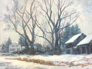 """Anne Bialke """"Snow Quiet"""" 18x24 oil $1,100."""