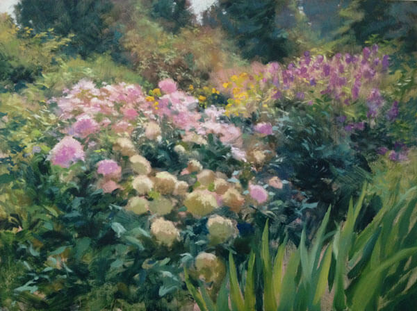 """Anne L. Bialke """"Summer's Garden"""" 18x24 oil $1,000. SOLD"""