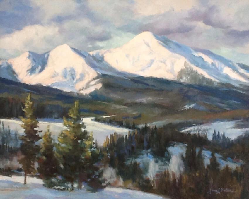 """Anne Bialke """"Summit County"""" 16x20 oil $1,000."""