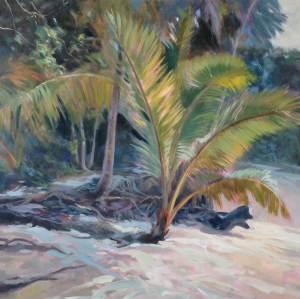 """Anne Bialke """"Warm Sands"""" 18x18 oil $775."""