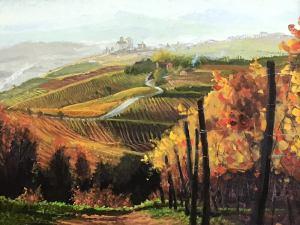 """Tom Gardner """"Italian Vineyard"""" 18x24 oil $1,800."""