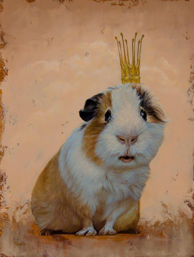 "Dana Hawk ""Queenie"" 16xx12 oil $1,400. SOLD"