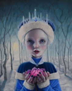 "Gina Pfleegor ""The Sorrow of the Snow Queen"" 20x16 oil $920. SOLD"