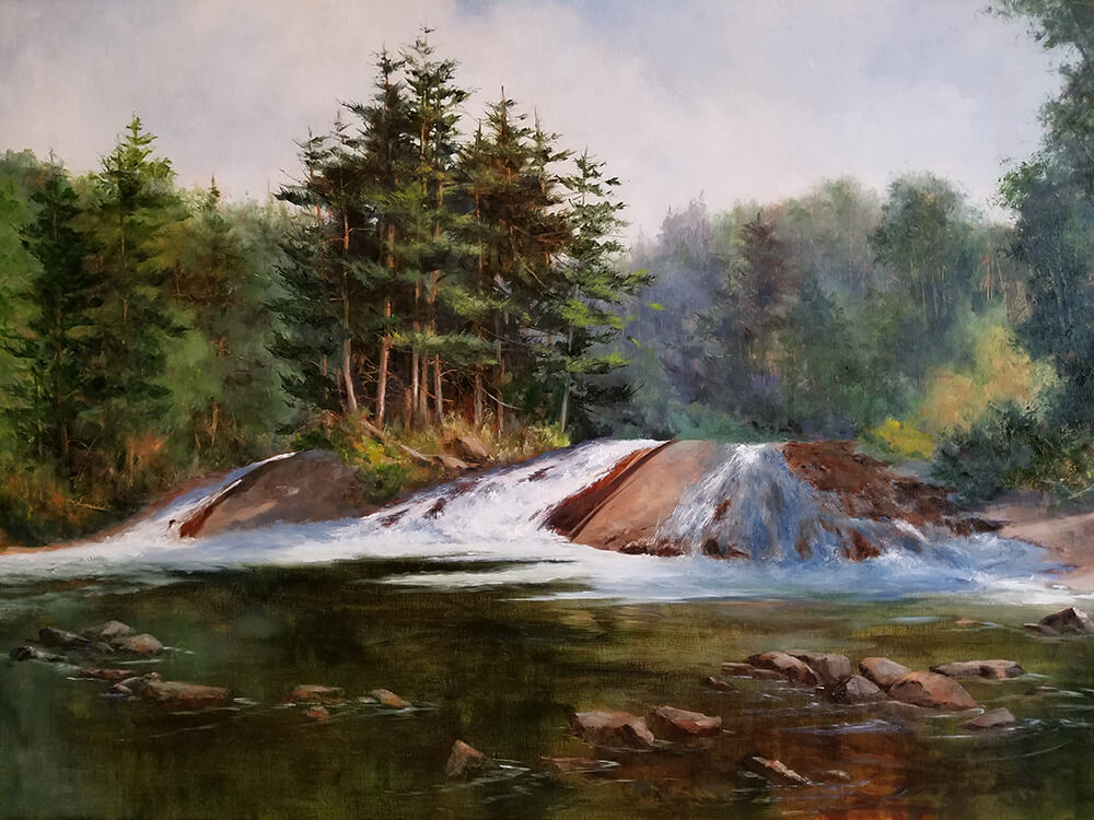 "Judy Soprano ""On the Way to Tupper Lake"" 24x36 oil $1,400"