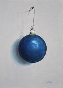 "Sean Witucki ""Blue Ornament"" 7x5 oil/board $350."