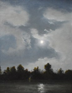 "Sean Witucki ""Moonlit Shoreline"" 10x8 oil/linen $850. SOLD"