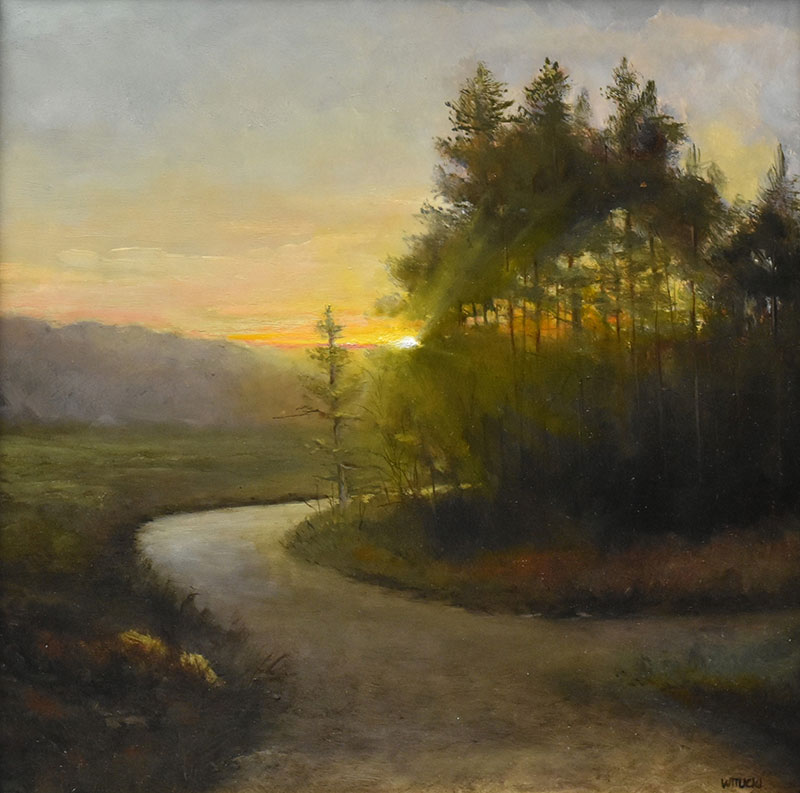 "Sean Witucki ""Rounding the Bend"" 12x12 oil/board $1,250. SOLD"