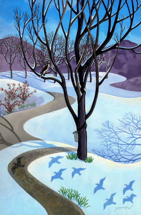 "Wynn Yarrow ""March"" 17x11 acrylic gouache $1,600."