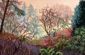 "Wynn Yarrow ""Promise of Dawn"" 11x17 acrylic gouache $1,600. SOLD"