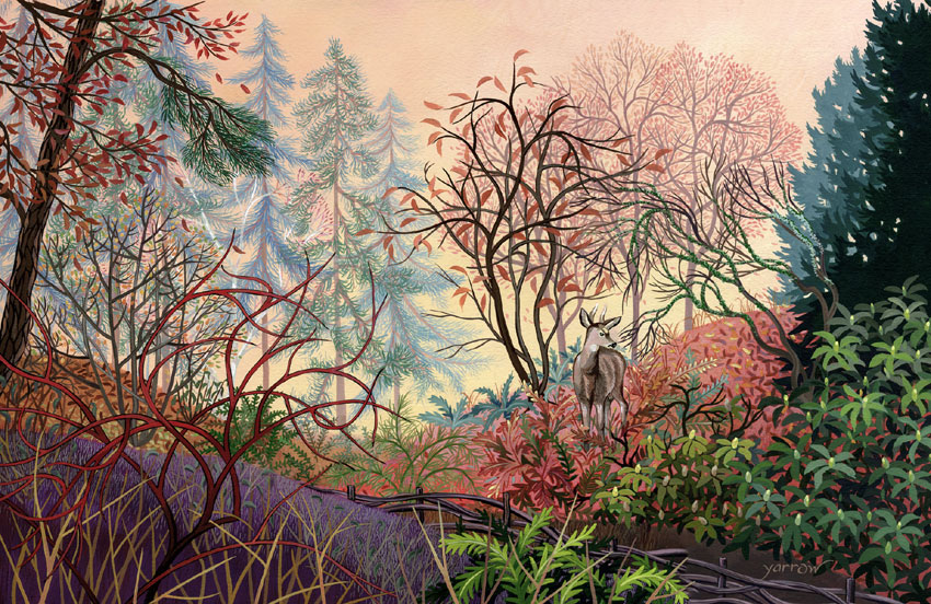 "Wynn Yarrow ""Promise of Dawn"" 11x17 acrylic gouache $1,600. SOLD"