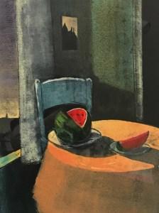"""Treacy Ziegler """"Watermelon"""" 25x18 monoprint $1.200."""