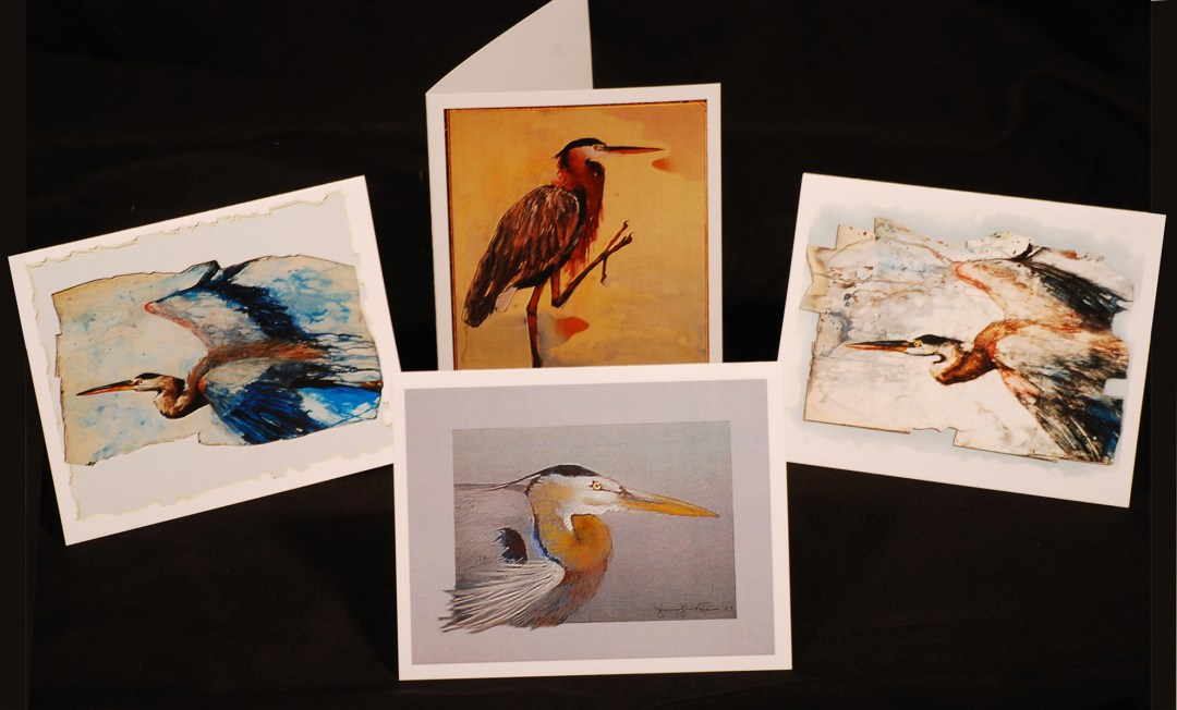 card pack 4 herons web - Jennifer Fais