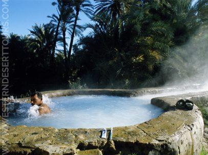 Bir Sigam hot spring in Bahariya Oasis