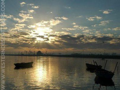 Lake Qarun at sunset