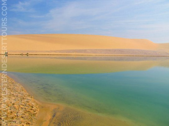 Lake Qarun in Faiyum Oasis