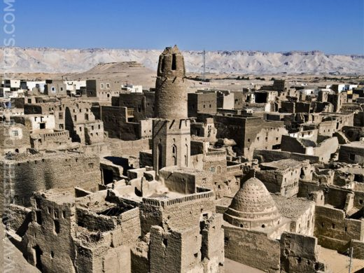 Panorama of the historic center of al-Qasr