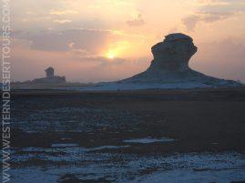 Sunset in the White Desert