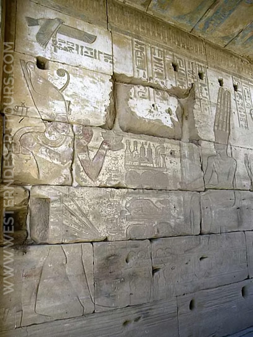 Wall relief in the Temple of Hibis in Kharga Oasis