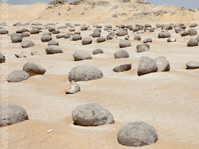 Watermelon stones in the Wadi al-Battikh near Kharga Oasis
