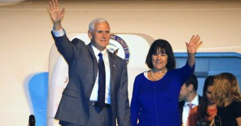 Twitter Users Mock Mike and Karen Pence for Looking Sad... During Concentration Camp Visit