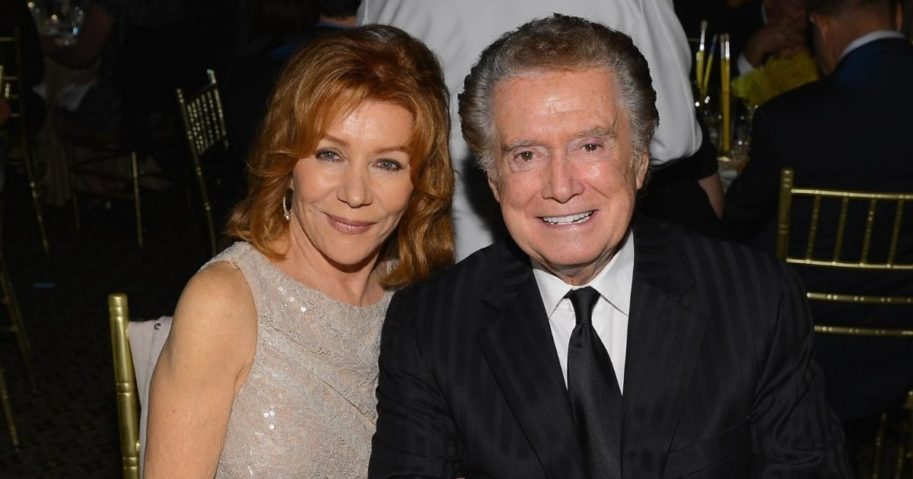Joy Philbin, left, and Regis Philbin attend the Exploring the Arts Gala hosted by Tony Bennett and Susan Benedetto at Cipriani 42nd Street on Oct. 4, 2012, in New York City.