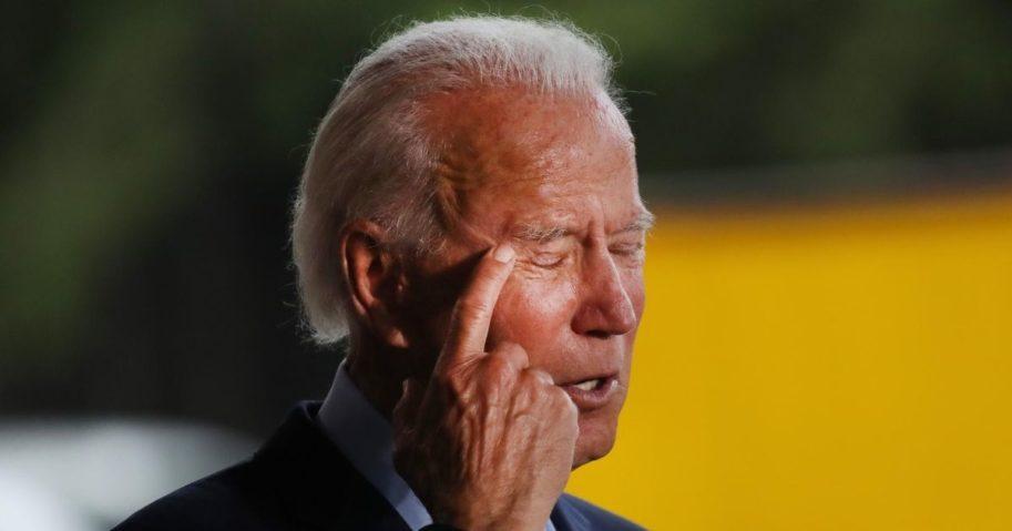 Former Vice President Joe Biden, the presumptive Democratic presidential nominee, speaks at McGregor Industries on July 9, 2020, in Dunmore, Pennsylvania.