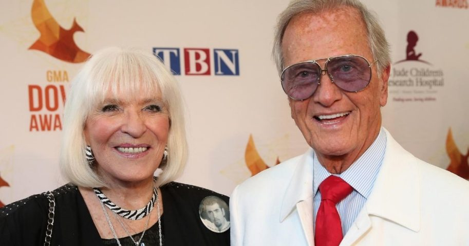 Shirley and Pat Boone arrive for the Dove Awards at Lipscomb University in Nashville, Tennessee, on Oct. 7, 2014.