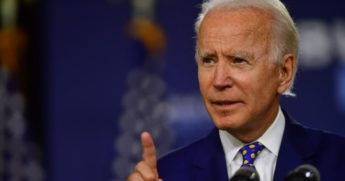 Former Vice President Joe Biden speaks Tuesday at the William Hicks Anderson Community Center in Wilmington, Delaware.