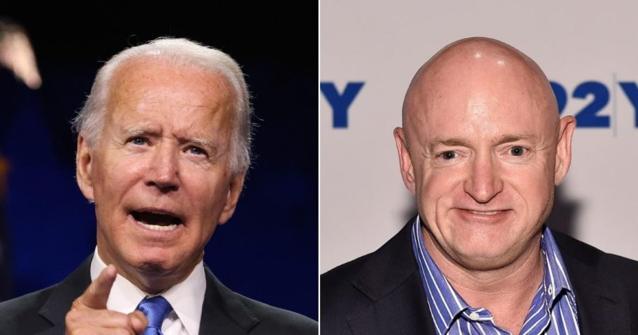 Democratic presidential nominee Joe Biden, left, and Senate candidate Mark Kelly are not the moderates they have attempted to portray themselves as, according to two Arizona GOP officials.
