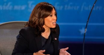 Democratic vice presidential nominee Kamala Harris during Wednesday's debate.