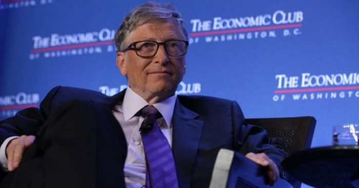 Microsoft co-founder Bill Gates participates in a discussion during a luncheon of the Economic Club of Washington in June 2019.