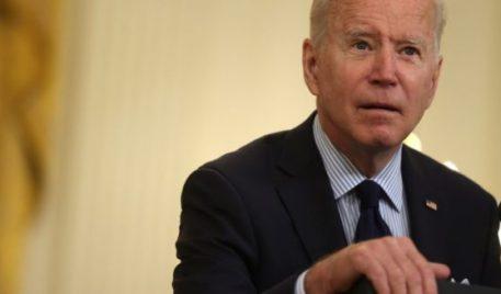 President Joe Biden speaks on job numbers from April, 2021 on Friday in Washington, D.C.
