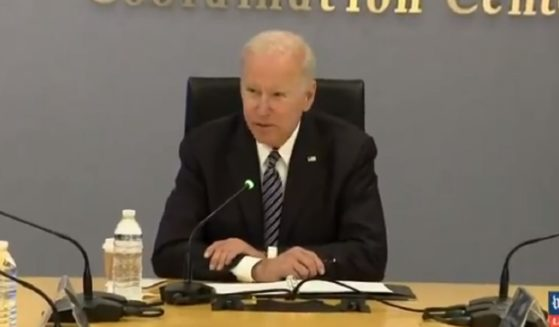 President Joe Biden delivers remarks Monday at Federal Emergency Management Agency headquarters in Washington.