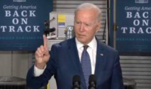 President Joe Biden delivers a speech Monday.