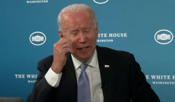 President Joe Biden delivers remarks on Wednesday.