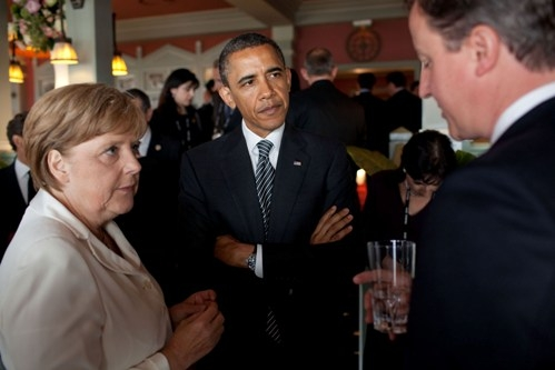 Angela Merkel Barack Obama SC Barack Obamas Cowardly Munich Moment