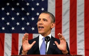 Barack Obama American flag SC Obama Quotes Alinsky in Speech to Young Israelis