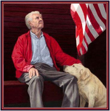 Man Flag Dog Democrats curb stomp disabled veterans