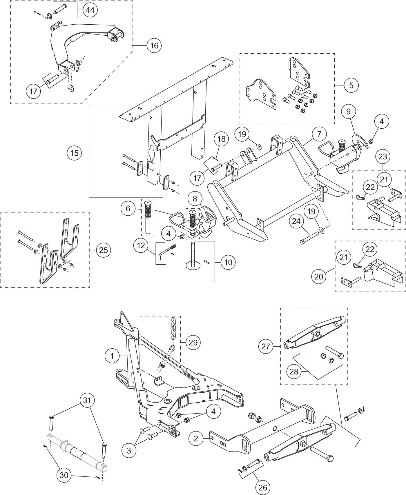 Ultramount Mvp Plus Lift Frame And T Frame Diagram