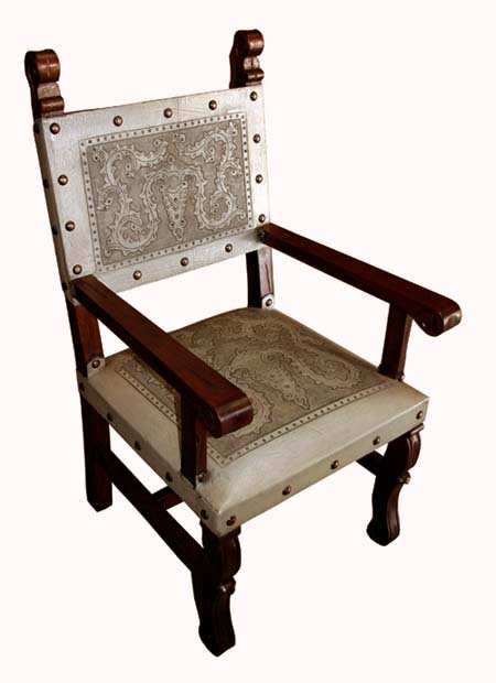 Tooled Leather Arm Chairs Set Of 2 Western Passion