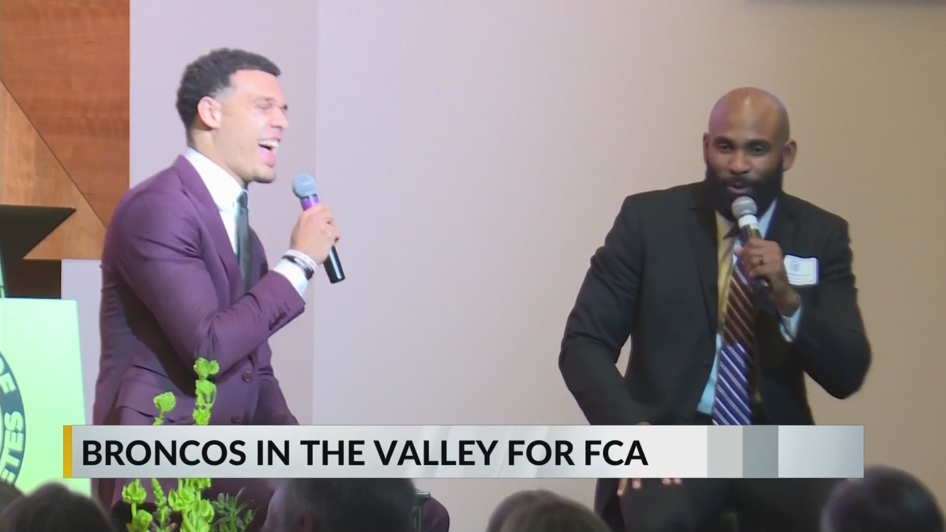 Justin Simmons Visits the Valley for FCA Banquet