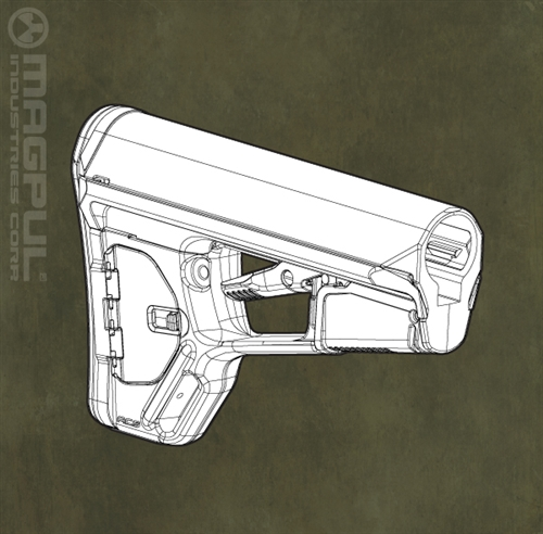Magpul ACS-L Carbine Stock  Mil-Spec Mode (OD Green)